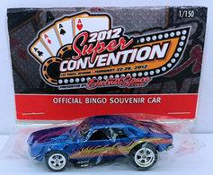 '67 Camaro | Model Cars | HW 2012 - Diecast Space Super Convention Las Vegas - Official Bingo Souvenir Car - '67 Camaro - Blue - Real Riders - Baggie