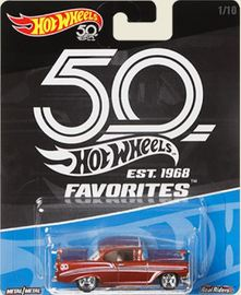 '56 Chevy | Model Cars | Hot Wheels 50th Anniv 56 Chevy mf brown