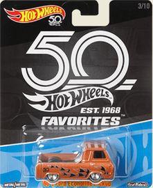 '60s Ford Econoline Pickup | Model Trucks | Hot Wheels 50th Anniversary 60s Ford Econoline Pickup  MF Copper