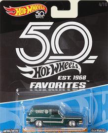 Custom '69 Volkswagen Squareback   Model Cars   Hot Wheels 50th Anniversary VW Squareback  Dark Green