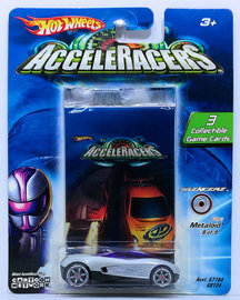 Metaloid | Model Cars | HW 2005 - AcceleRacerS / Silencerz 8/9 - Metaloid - Silver - CM6 Wheels - Collectible Game Cards