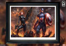 Captain America & Black Widow | Posters & Prints