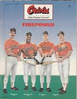 Orioles Game Program 1991 | Magazines & Periodicals | Orioles Game Program 1991