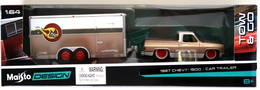 1987 Chevy 1500 & Car Trailer | Model Vehicle Sets