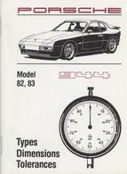 Porsche 1982-83 944 Tech Specs | Books
