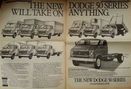 The New Dodge 50 Series Will Take On Anything. | Print Ads