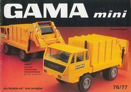 Gama Mini Catalog 1976/77 | Brochures & Catalogs | Front