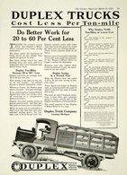 Duplex Trucks Cost Less Per Ton-Mile | Print Ads