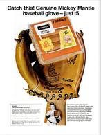Catch This! Genuine Mickey Mantle Baseball Glove ― Just $5.00 | Print Ads