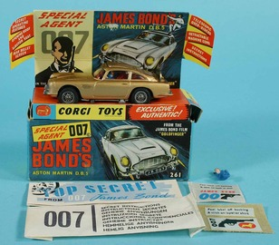 James Bond's Aston Martin DB5 | Model Cars | The Aston-Martin complete with original box, instructions and accessories.