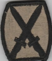 U.S. Army Patch - 10th Infantry Division Patch - Brown   Uniform Patches   U.S. Army Patch - 10th Infantry Division Patch