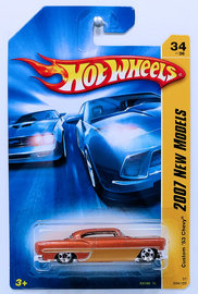 Custom '53 Chevy | Model Cars | HW 2007 - Collector # 034/180 - New Models 34/36 - Custom '53 Chevy - Copper & Gold - USA Card