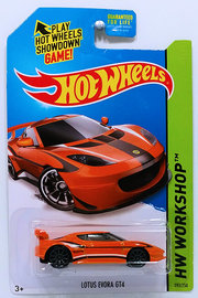 Lotus Evora GT4 | Model Cars | HW 2014 - Collector # 193/250 - HW Workshop / HW All Stars - Lotus Evora GT4 - Orange - KMart Exclusive