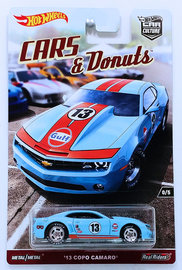 '13 COPO Camaro | Model Cars | HW 2017 - Car Culture / CARS & Donuts 0/5 - '13 COPO Camaro - Light Blue / Gulf Racing - from RLC Exclusive 5-Car Set