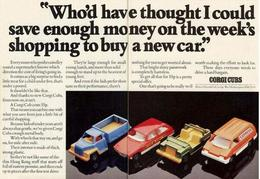 """""""Who'd Have Thought I Could Save Enough Money On The Week's Shopping To Buy A New Car"""".   Print Ads"""
