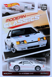 '84 Mustang SVO | Model Cars | HW 2017 - Car Culture / Modern Classics 0/5 - '84 Mustang SVO - White - RLC Exclusive