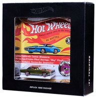 Custom T-Bird | Model Cars | HW 2018 - HWC/RLC Exclusive - Original 16 - Custom T-Bird - Spectraflame Olive - Replica 1968 Package in a Box