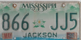 Mississippi State License Plate 866 JJ5 | License Plates | 866 - JJ5