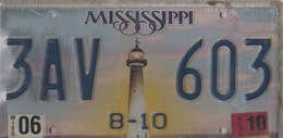 Mississippi State License Plate  # 3AV - 603 | License Plates | B-10