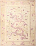 Funky Antique Purple Chinese Dragon Design Rug   Carpets & Rugs