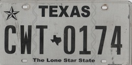 Texas State Plate #CWT - 0174 | License Plates | Texas