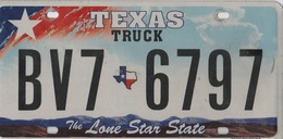 Texas Truck State Plate #BV7 6797 | License Plates | Texas Truck Tag #BV7-6797