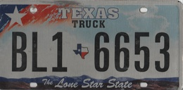 Texas Truck State Plate #BL1 - 6653 | License Plates | Texas Truck State Plate #BL1-6653