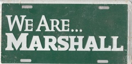 We Are...  Marshall School Novelty Plate | License Plates | We Are...  Marshall