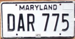 Maryland Passenger License Plate | License Plates | Maryland Passenger License Plate 1981