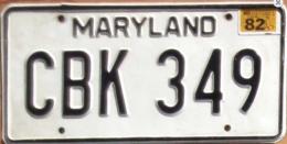 Maryland Passenger License Plate | License Plates | Maryland Passenger License Plates