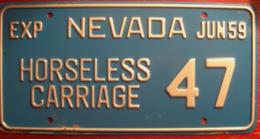 Nevada Passenger License Plate | License Plates | Nevada Passenger License Plate 1959