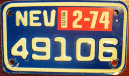 Nevada Passenger License Plate | License Plates | Nevada Passenger License Plate 1974