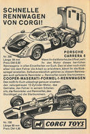 Schnelle Rennwagen von Corgi!   Print Ads