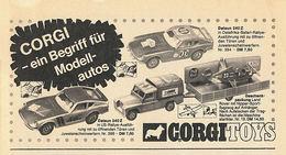 CORGI - ein Begriff für Modellautos | Print Ads