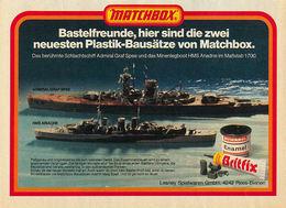 Bastelfreunde, hier sind die zwei neuesten Plastik-Bausätze von Matchbox. | Print Ads