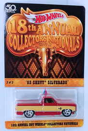 '83 Chevy Silverado | Model Trucks | HW 2018 - 18th Annual Collectors Nationals 2/3 - '83 Chevy Silverado - Red / Beige - Limited to 5,000
