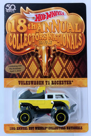 Volkswagen T1 Rockster | Model Trucks | HW 2018 - 18th Annual Collectors Nationals - Phil Riehlman Dinner - Volkswagen T1 Rockster - White & Yellow - With Dinner Sticker - Limited to 4,000 - NEW Casting