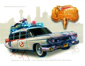 2018 - 18th Annual Collectors Nationals Autograph Sheets | Posters & Prints | 2018 Nationals - Manson Cheung - Ghostbusters Ecto-1