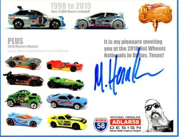 2018 - 18th Annual Collectors Nationals Autograph Sheets | Posters & Prints | 18th Nationals - Multiple Castings - Michael Heralda