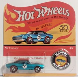 '67 Camaro | Model Cars | Hot Wheels 50th Anniversary Redline Replica