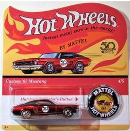'67 Mustang | Model Cars | Hot Wheels 50th Anniversary Redline Replica