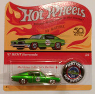 '67 Hemi Barracuda | Model Cars | Hot Wheels 50th Anniversary Redline Relica