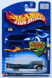 '59 Cadillac | Model Cars | HW 2002 - Collector # 208/240 - '59 Cadillac - Black - USA 'Race & Win' Card