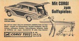 Mit CORGI Zum Golfspielen   Print Ads