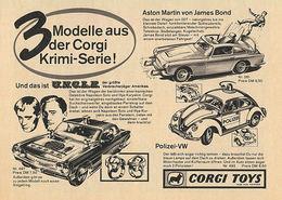 3 Modelle Aus Der Corgi Krimi-Serie! | Print Ads