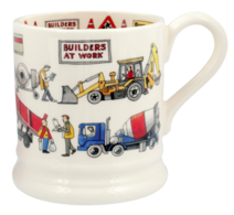 Builders At Work 1/2 Pint Mug - Emma Bridgewater | Ceramics | Builders at Work 1/2 Pint Mug