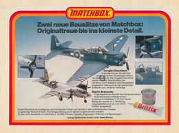 Zwei Neue Bausätze Von Matchbox: Originaltreue Bis Ins Kleinste Detail. | Print Ads