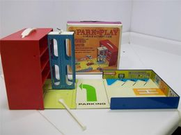 Ohio Art - Mini Lift Elevated Garage | Dioramas | item shown unfolded and with original box.