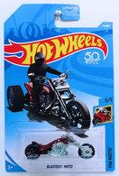 Blastous Moto | Model Motorcycles | HW 2018 - Collector # 179/365 - HW Moto 5/5 - Blastous Moto - Dark Red - USA 50th Card