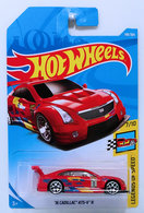'16 Cadillac ATS-V R | Model Racing Cars | HW 2018 - Collector # 198/365 - Legends of Speed 7/10 - '16 Cadillac ATS-V R - Red - International Long Card